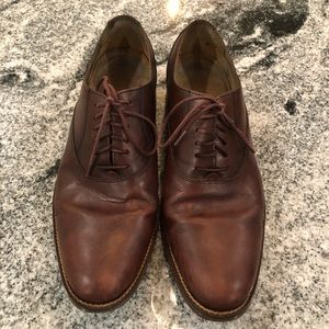 Mens 9M Cole Haan Brown Soft Leather Lace Oxfords